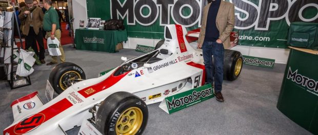 2016 guest Damon Hill on Motor Sport stand at Race Retro