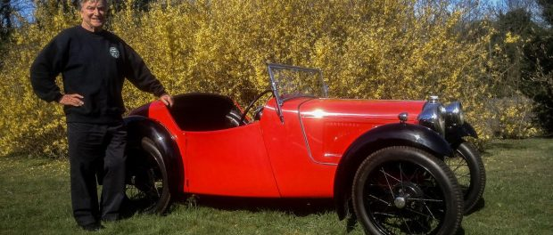Bertie Fowler with Austin 7 Nippy