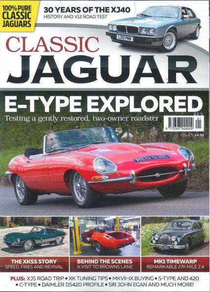 Classic Jaguar New Quarterly Print Magazine Just British