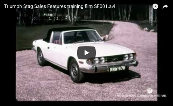 Votw Triumph Stag British Leyland Training Video Just