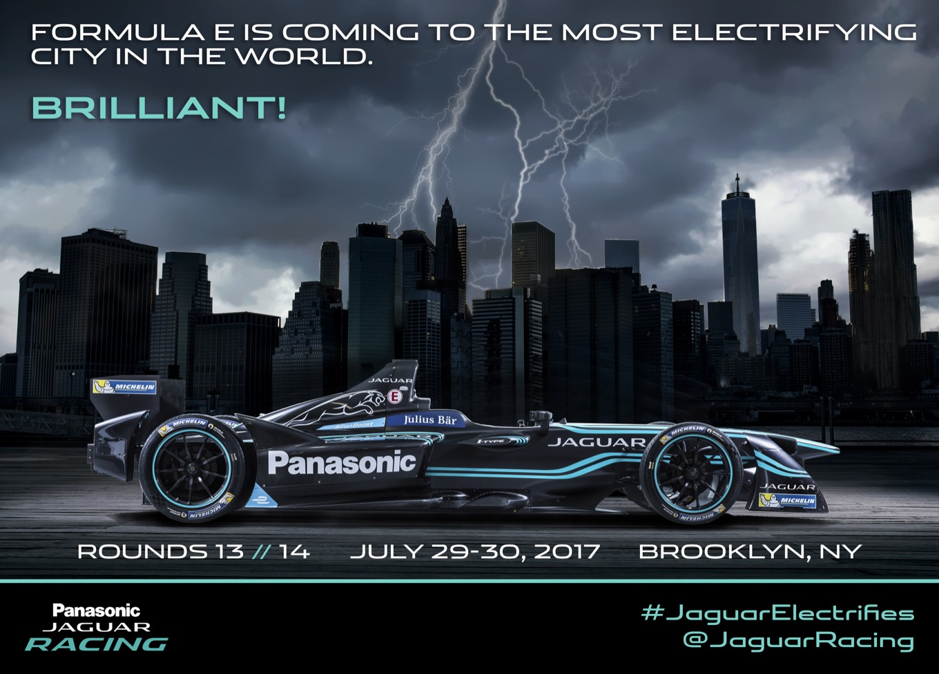 Jaguar Formula-E to New York