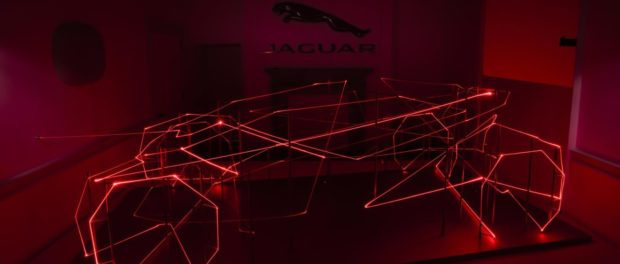 Jaguar celebrates London's first Design Biennale with innovative light installation at Somerset House.5
