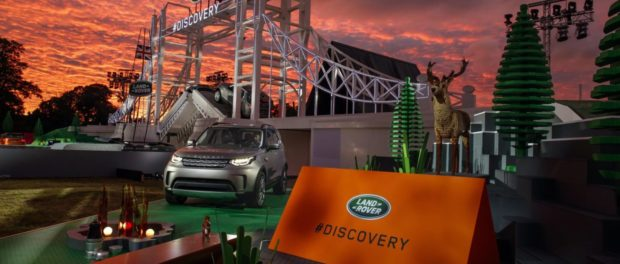 Land Rover unveils the New Discovery at launch event at Packington Hall, Solihull, UK alongside world record breaking Lego structure of London's Tower Bridge