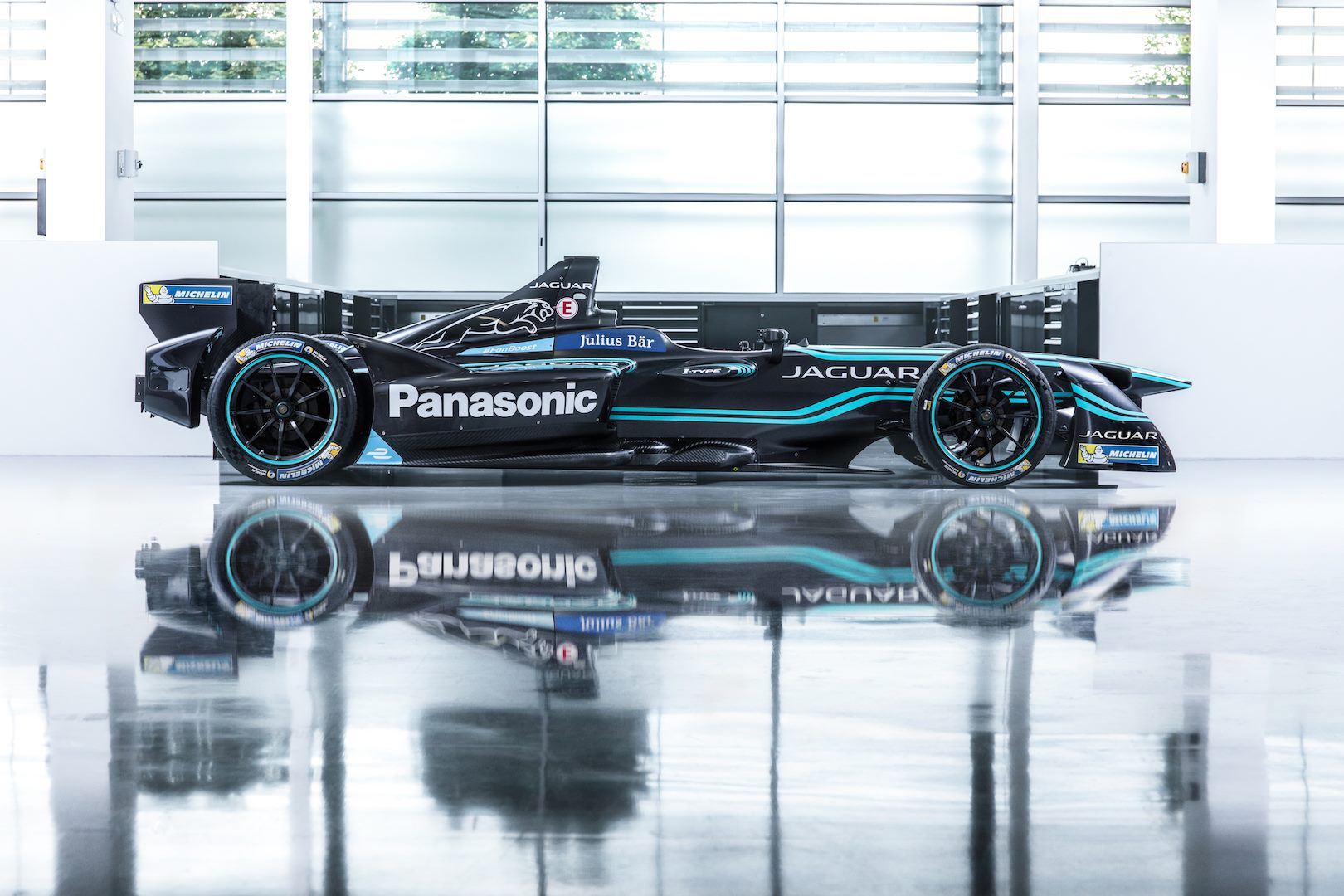 The Panasonic Jaguar Racing I-TYPE Formula E Car 1
