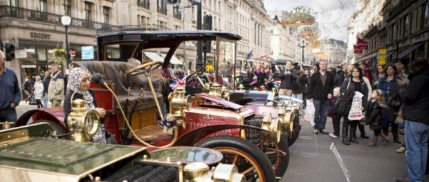 Concours Veterans Line Up at the Regent Street Motor Show