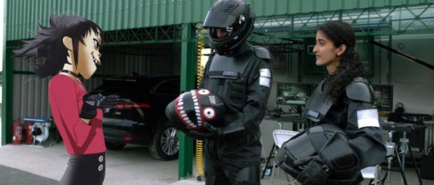 Gorillaz Noodle meets Panasonic-Jaguar Racing engineer Charanya Ravi