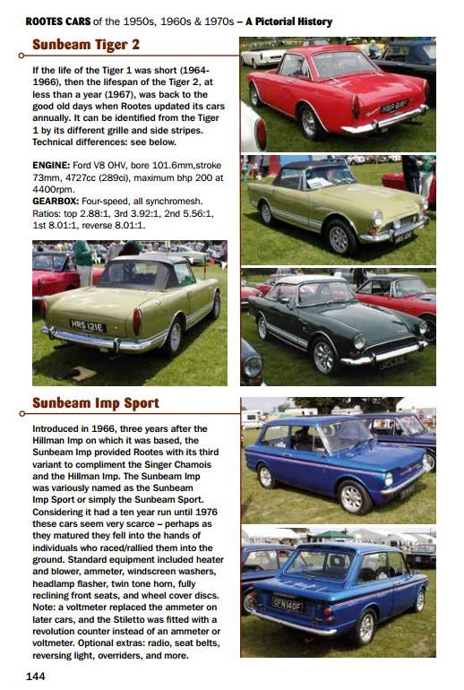 ROOTES CARS OF THE 1950S, 1960S & 1970S – HILLMAN, HUMBER, SINGER, SUNBEAM & TALBOT – A PICTORIAL HISTORY