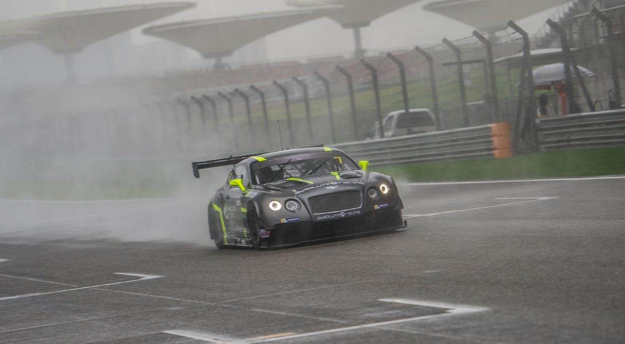 The GT Asia Series Finale was held on a wet Shanghai Circuit