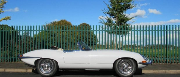 1962 Jaguar E-Type 3.8 Roadster - Side View at Silverstone Auctions