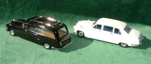 1987 Daimler DS420 limo hearse - Diecast