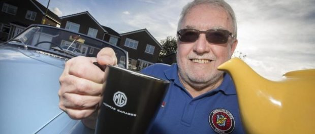 Classic British car brand brings out its very own breakfast tea - Chairman of Abingdon MG Works Centre, Richard Martin