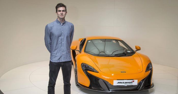 McLaren awards its first international internship to Andrew McLaren