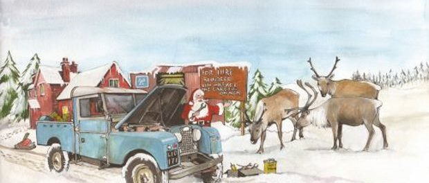 Santa's Land Rover by Sue Podbery