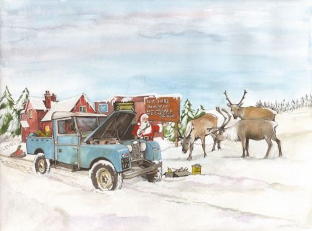 Santa's Land Rover by Sue Podberry