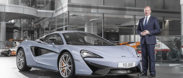 10000th car from McLaren Production Centre in Woking, England