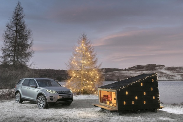 and Rover builds compact Christmas cabin for Santa