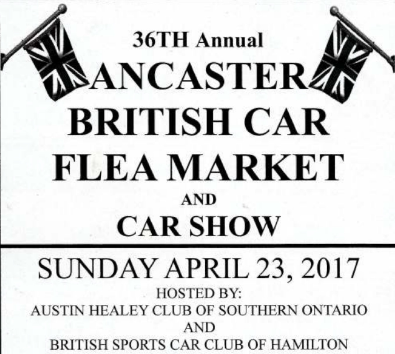 Ancaster British Car Flea Market and Car Show
