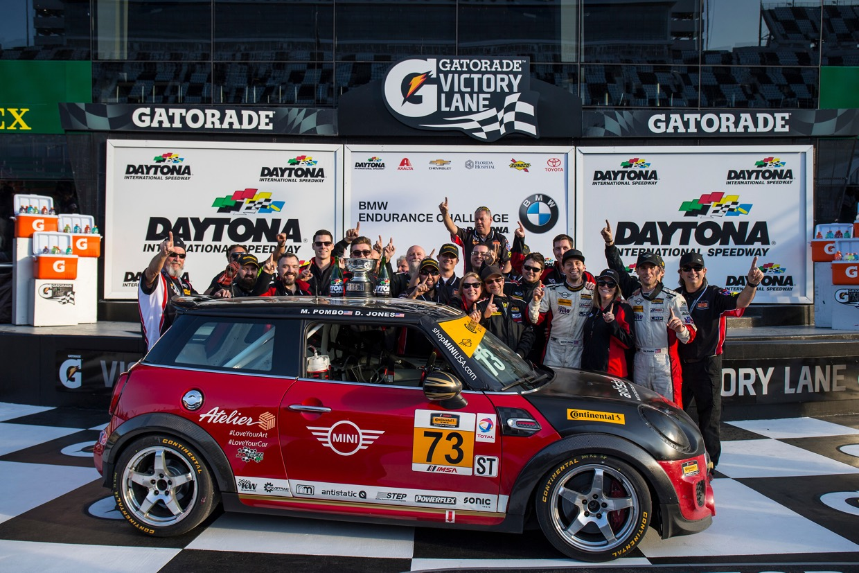 MINI JCW Team Wins Their First IMSA Continental Tire SportsCar Challenge Series Race 1
