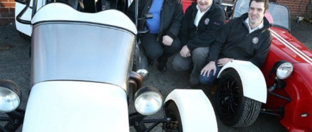 Mark Spencer, with directors Keith Bird and Richard Hall at Great British Sports Cars, Boughton