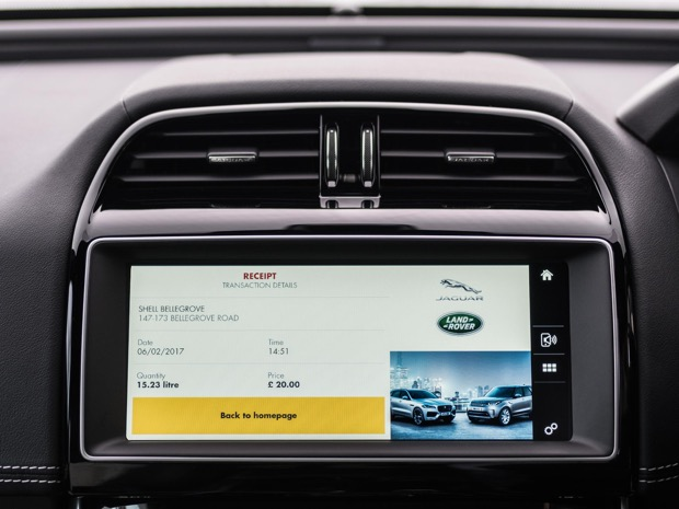 JAGUAR AND SHELL LAUNCH WORLD'S FIRST IN-CAR PAYMENT SYSTEM 2