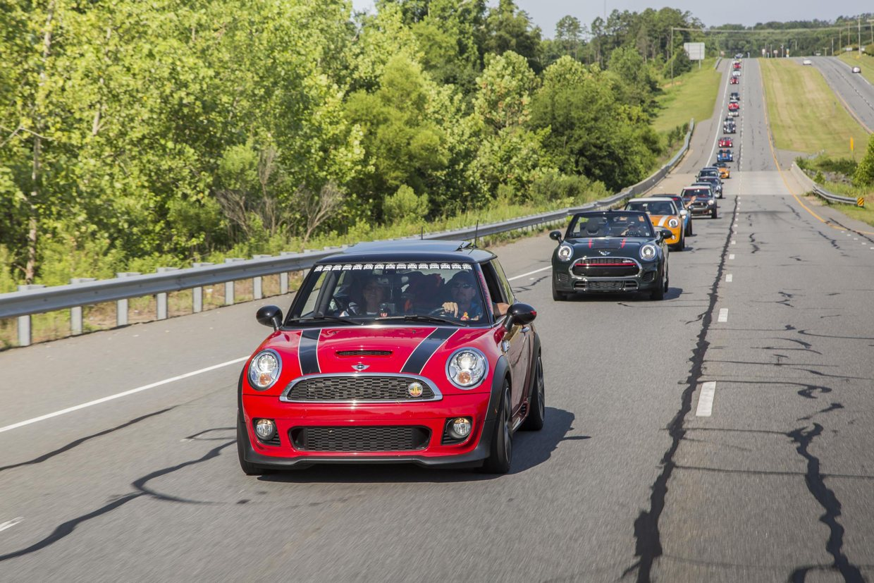 Hundreds of MINI owners rally together during MINI TAKES THE STATE
