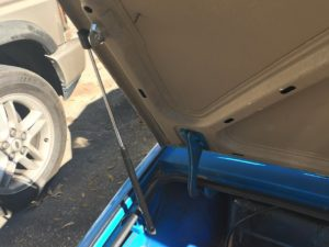 Triumph Spitfire Trunk Support - Fully Installed