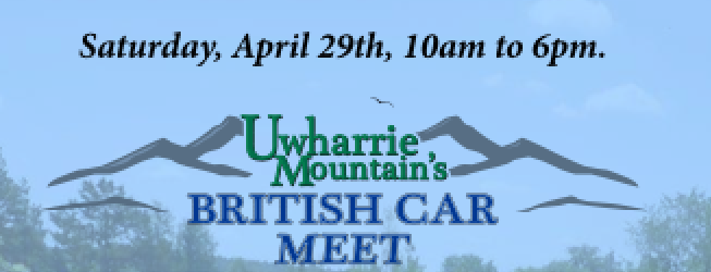Uwharrie Mountains British Car Meet, NC - Header