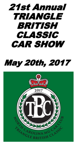 2017 Triangle British Classic Car Show