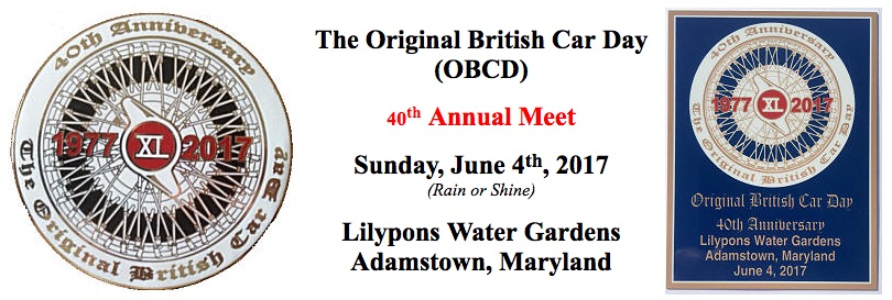 40th Annual Original British Car Day - Maryland