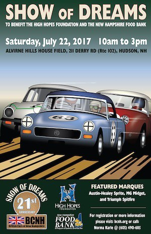 British Car Club of New Hampshire - Show of Dreams Poster