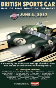 British Sports Car Hall of Fame poster by David Townsend of Sports Car Art