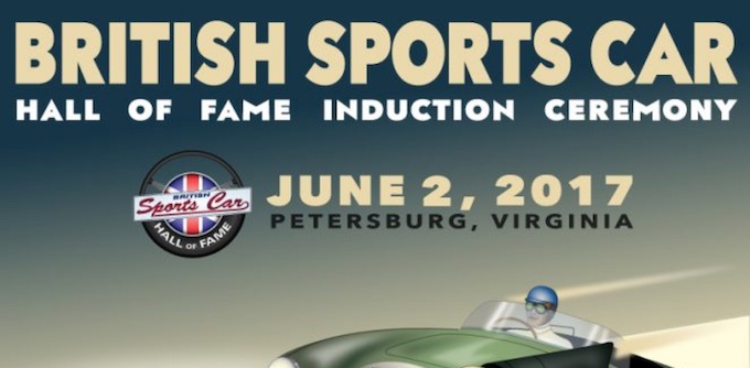 British Sports Car Hal of Fame Induction Ceremony Poster Header