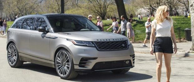Ellie Goulding drives new Range Rover Velar in New York 3