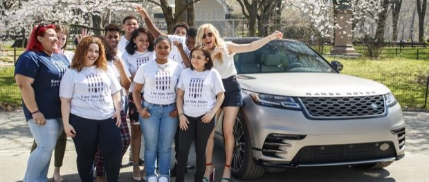 Ellie Goulding drives new Range Rover Velar in New York 5