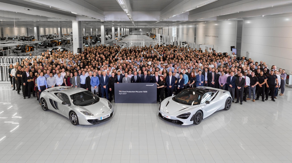 First Production McLaren 720S with McLaren 12C at MPC