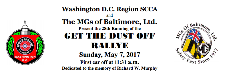"28th Annual ""Get the Dust-Off"" Rallye"