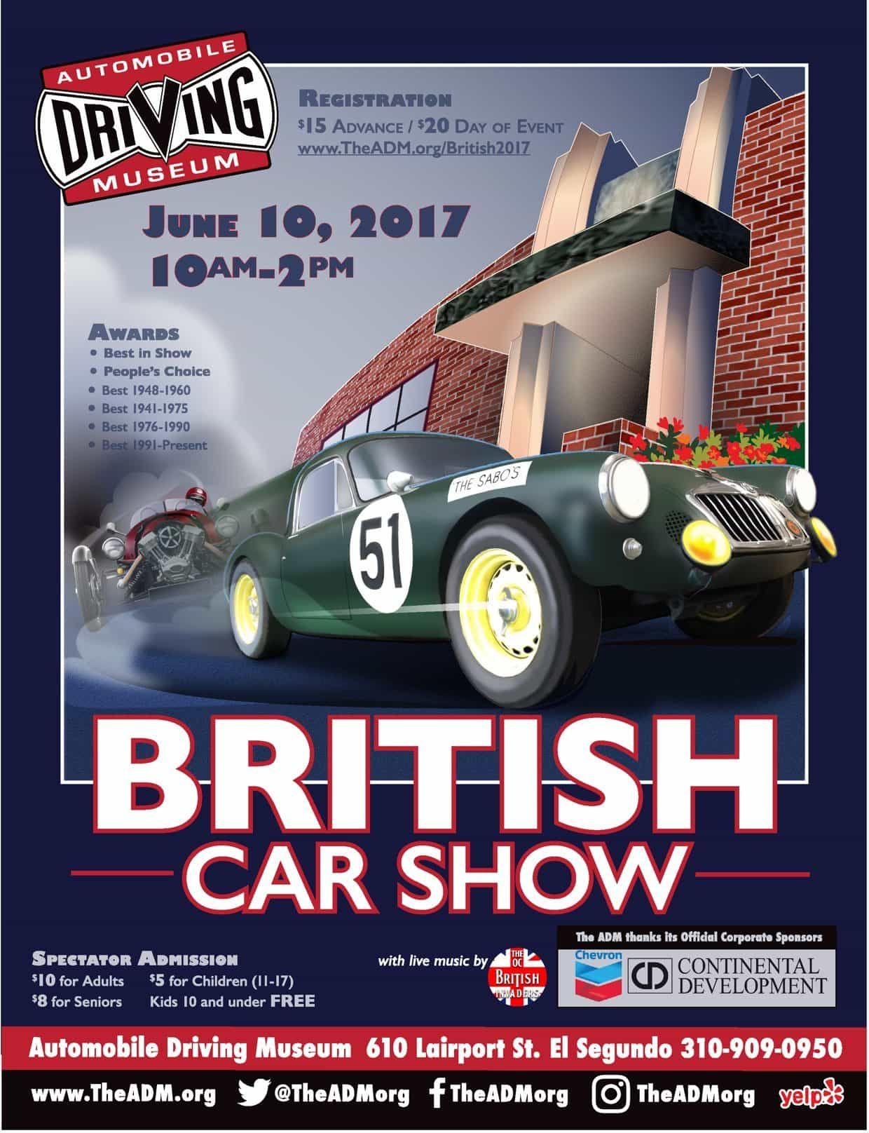 Adm British Car Show El Segundo Ca Just British