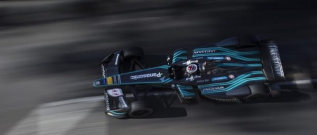 Adam Carroll Blurry - Panasonic Jaguar Racing in Monaco