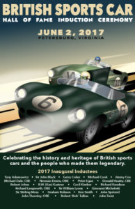 British Sports Car Hall Of Fame Poster