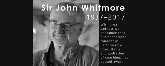 Sir John Whitmore - 1937 - 2017