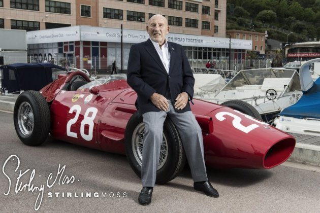 Stirling celebrates the anniversary of his 1956 Monaco Grand Prix victory at the 2016 Grand Prix de Monaco Historique.