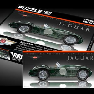 Sports Car Art - Jaguar C-Type Puzzles
