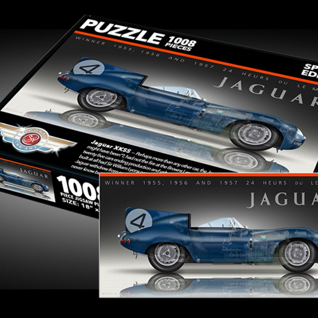 Sports Car Art - Jaguar D-Type Puzzles