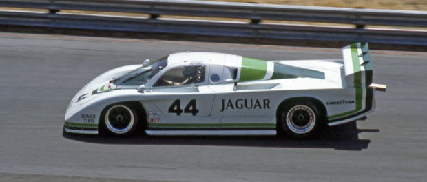 The Group 44 Jaguar XJR-5 by Bill Adam and Bob Tullius at the IMSA-GTP-Race in Searspoint 1983