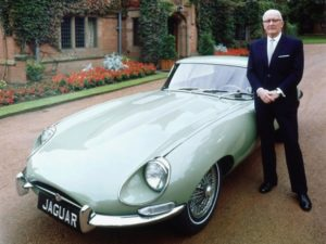 Willieam Lyons with Jaguar E-Type