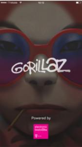 Gorillaz app on iPhone