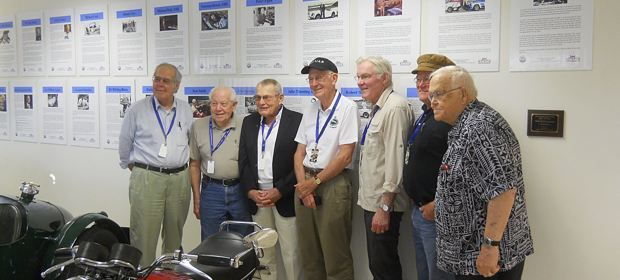 Hall of Fame - From left to right - Graham Robson, Mike Cook, Bob Tullius, Michael Dale, Peter Egan, John Twist, and Richard Knudson - In attendance but missing from this picture was Robert Johns