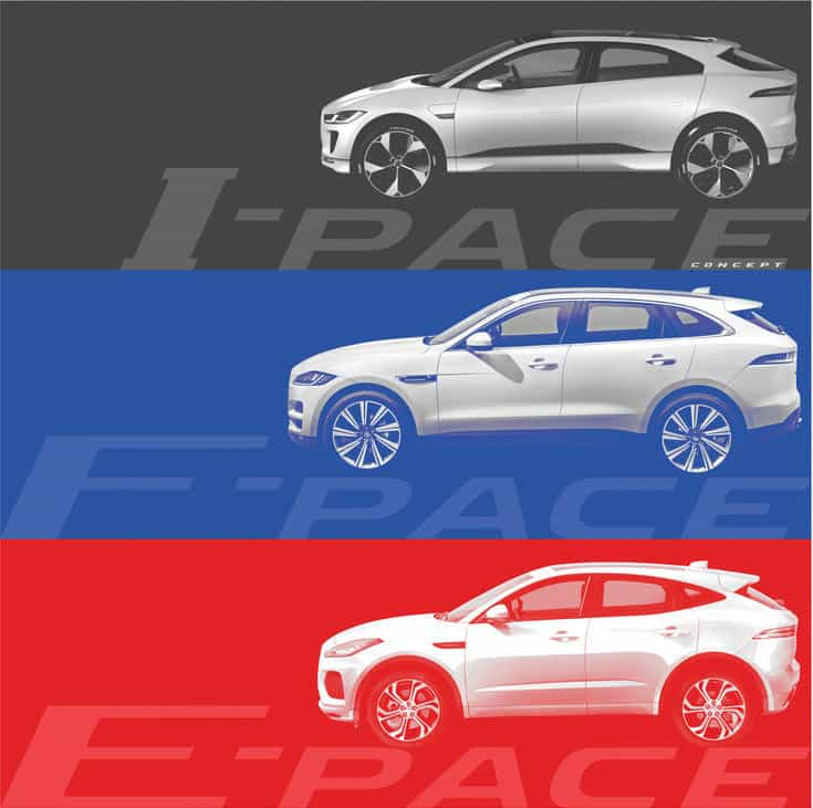 I-PACE, F-PACE, E-PACE