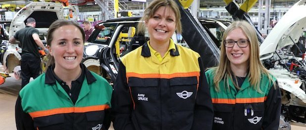 Annie Sekulla, Amy Druce & Helen Evans - MINI PLANT OXFORD WOMEN NAMED 'RISING STARS' IN UK INDUSTRY TOP-100 LIST