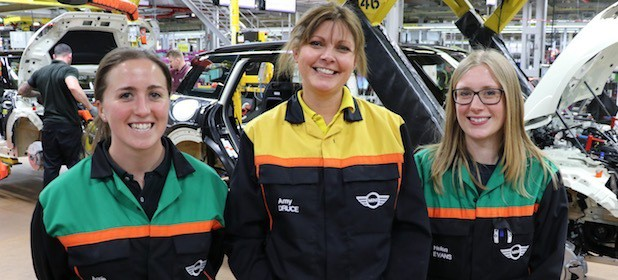 MINI PLANT OXFORD WOMEN NAMED 'RISING STARS' IN UK INDUSTRY TOP-100 LIST - Annie Sekulla, Amy Druce & Helen Evans